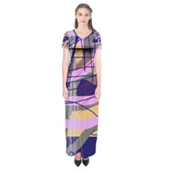 Abstract High Art By Moma Short Sleeve Maxi Dress by Valentinaart