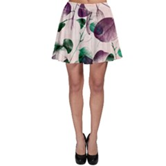 Spiral Eucalyptus Leaves Skater Skirt by DanaeStudio