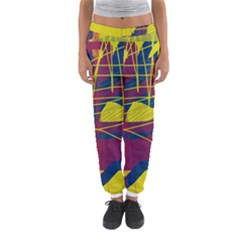 Yellow High Art Abstraction Women s Jogger Sweatpants by Valentinaart