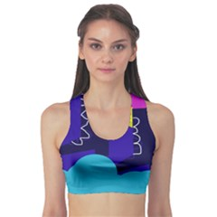 Walking On The Clouds  Sports Bra by Valentinaart