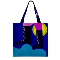 Walking On The Clouds  Grocery Tote Bag by Valentinaart
