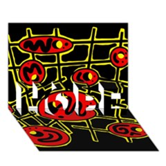 Red And Yellow Hot Design Hope 3d Greeting Card (7x5) by Valentinaart