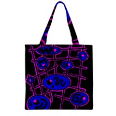 Blue And Magenta Abstraction Grocery Tote Bag by Valentinaart