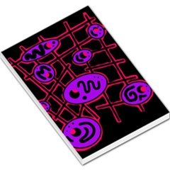 Purple And Red Abstraction Large Memo Pads