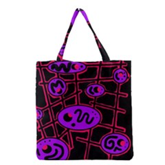 Purple And Red Abstraction Grocery Tote Bag by Valentinaart
