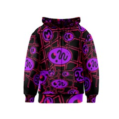 Purple And Red Abstraction Kids  Zipper Hoodie by Valentinaart