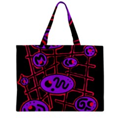 Purple And Red Abstraction Zipper Mini Tote Bag by Valentinaart