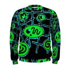 Green And Blue Abstraction Men s Sweatshirt by Valentinaart