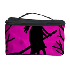 Halloween Witch   Pink Moon Cosmetic Storage Case by Valentinaart