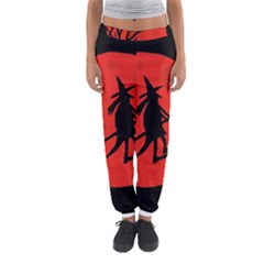 Halloween Witch - Red Moon Women s Jogger Sweatpants by Valentinaart