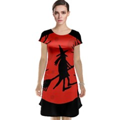 Halloween Witch - Red Moon Cap Sleeve Nightdress by Valentinaart