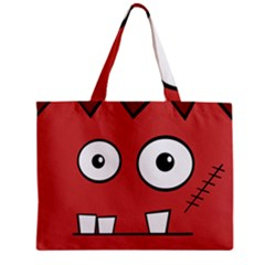 Halloween Frankenstein - Red Zipper Mini Tote Bag by Valentinaart