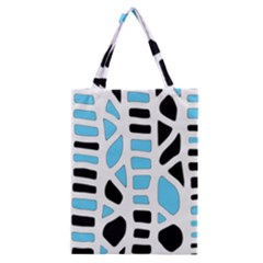 Light Blue Decor Classic Tote Bag by Valentinaart