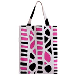 Pink Decor Zipper Classic Tote Bag by Valentinaart