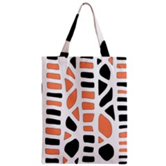 Orange Decor Zipper Classic Tote Bag by Valentinaart
