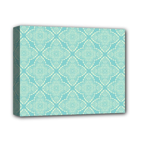 Light Blue Lattice Pattern Deluxe Canvas 14  X 11  by TanyaDraws