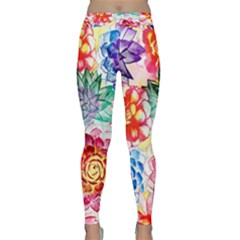 Colorful Succulents Yoga Leggings
