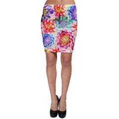 Colorful Succulents Bodycon Skirt