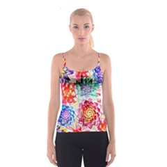 Colorful Succulents Spaghetti Strap Top