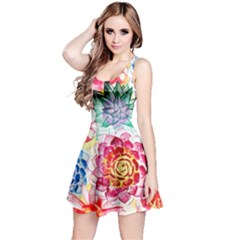 Colorful Succulents Reversible Sleeveless Dress