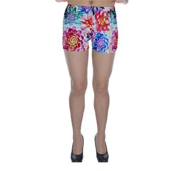 Colorful Succulents Skinny Shorts