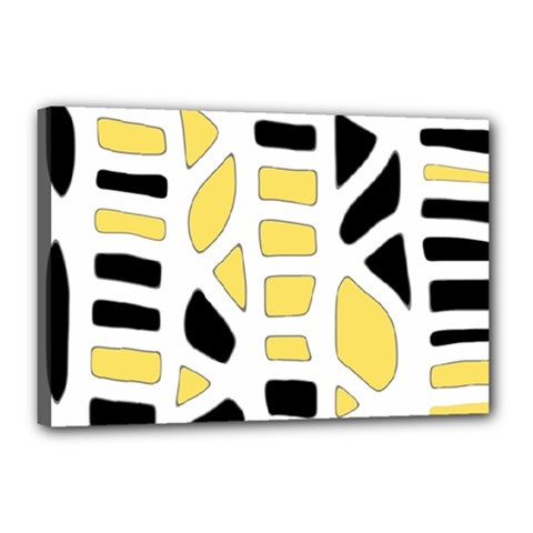 Yellow Decor Canvas 18  X 12  by Valentinaart