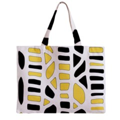 Yellow Decor Zipper Mini Tote Bag by Valentinaart