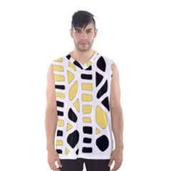 Yellow Decor Men s Basketball Tank Top by Valentinaart