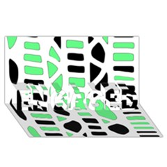Light Green Decor Engaged 3d Greeting Card (8x4)