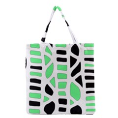 Light Green Decor Grocery Tote Bag by Valentinaart