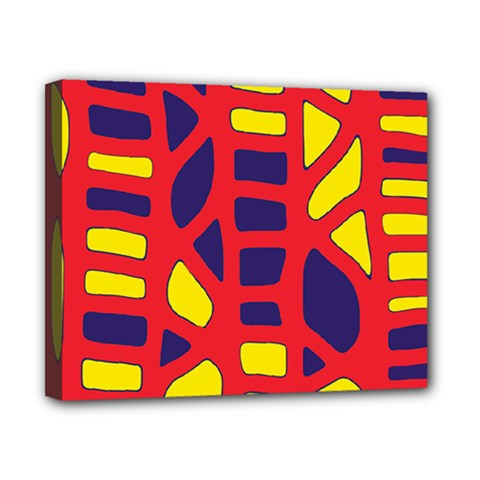 Red, Yellow And Blue Decor Canvas 10  X 8  by Valentinaart