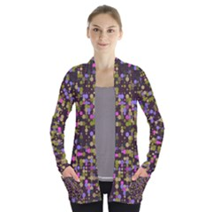 Dots          Women s Open Front Pockets Cardigan