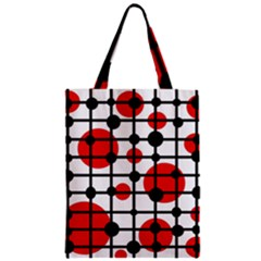 Red Circles Zipper Classic Tote Bag by Valentinaart