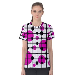 Magenta Circles Women s Cotton Tee by Valentinaart