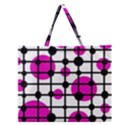 Magenta circles Zipper Large Tote Bag View1