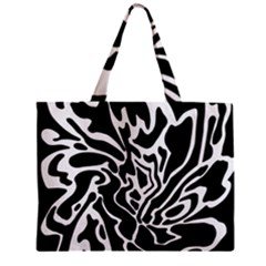 Black And White Decor Zipper Mini Tote Bag by Valentinaart