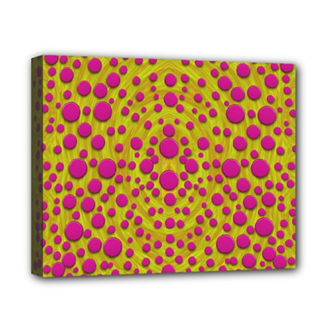 Fantasy Feathers And Polka Dots Canvas 10  X 8  by pepitasart