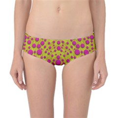 Fantasy Feathers And Polka Dots Classic Bikini Bottoms by pepitasart