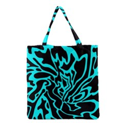 Cyan Decor Grocery Tote Bag by Valentinaart