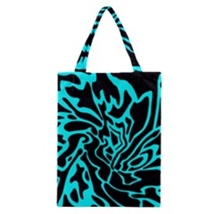 Cyan Decor Classic Tote Bag by Valentinaart
