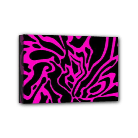 Magenta And Black Mini Canvas 6  X 4  by Valentinaart