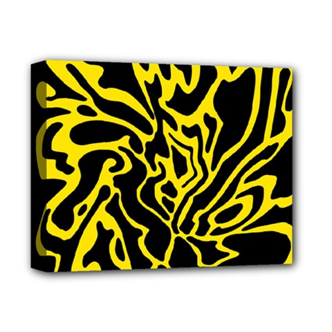 Black And Yellow Deluxe Canvas 14  X 11  by Valentinaart