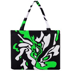 Green, White And Black Decor Mini Tote Bag by Valentinaart