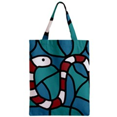 Red Snake Zipper Classic Tote Bag by Valentinaart
