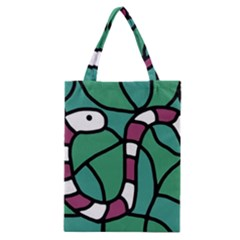 Purple Snake  Classic Tote Bag by Valentinaart