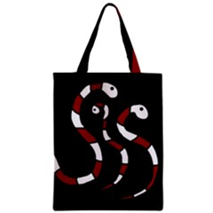 Red Snakes Classic Tote Bag by Valentinaart