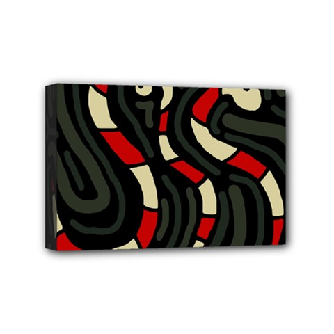 Red Snakes Mini Canvas 6  X 4  by Valentinaart