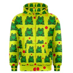 Green Frogs Men s Zipper Hoodie by Valentinaart