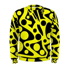 Black And Yellow Abstract Desing Men s Sweatshirt by Valentinaart