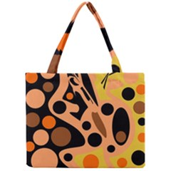 Orange Abstract Decor Mini Tote Bag by Valentinaart